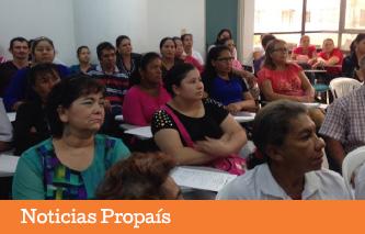 Propaís trabajando con empresarios de poblaciones vulnerables