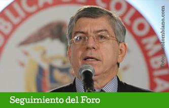 Cesar Gaviria Trujillo acompaña a los empresarios Colombianos desde Cartagena.