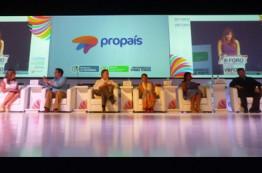 El presidente de Colombia Juan Manuel Santos le agradece a los empresarios Colombianos