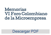 VI Foro Colombiano de la Microempresa